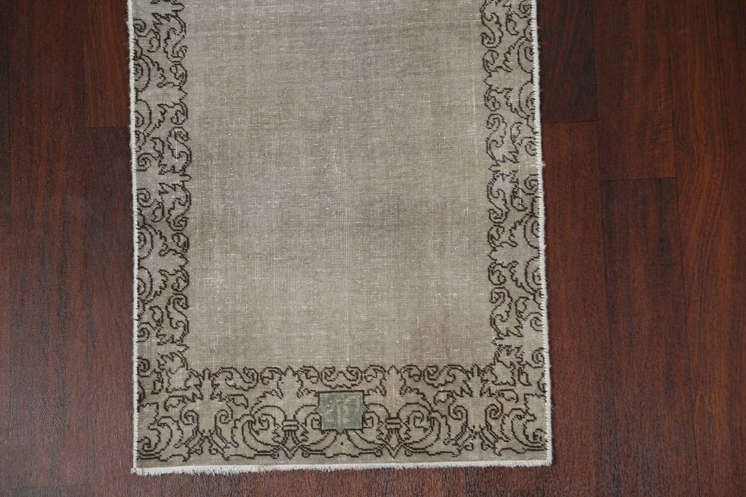 Distressed Over-Dyed Tabriz Persian Runner Rug 2x9 image 6
