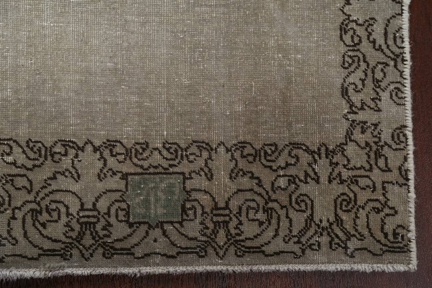 Distressed Over-Dyed Tabriz Persian Runner Rug 2x9 image 7