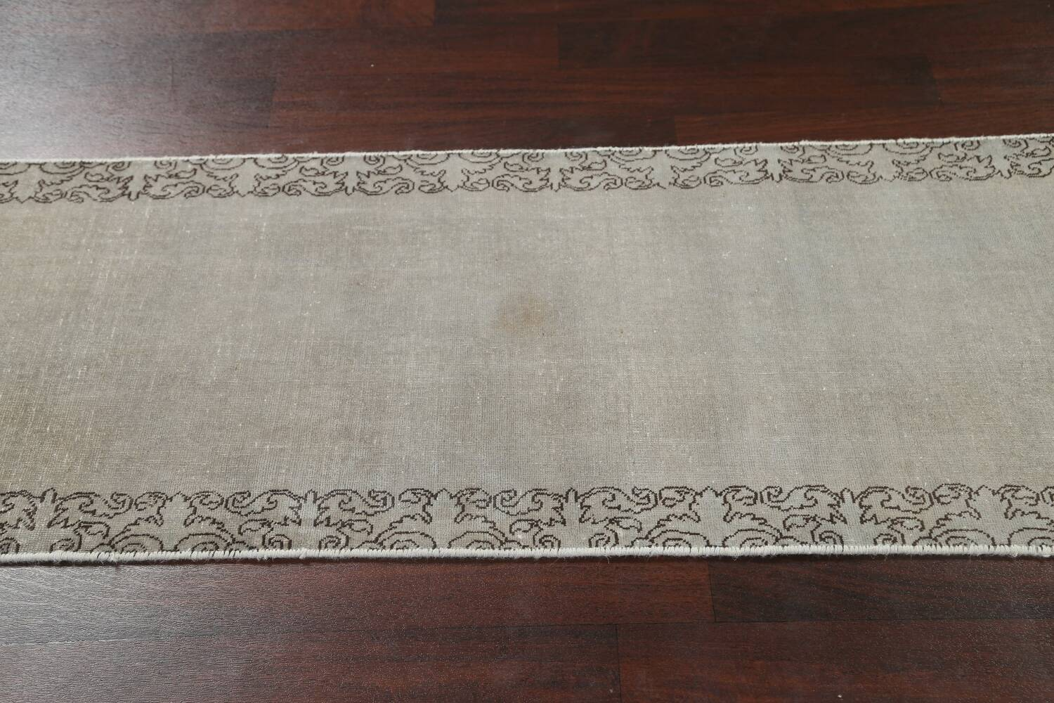 Distressed Over-Dyed Tabriz Persian Runner Rug 2x9 image 13