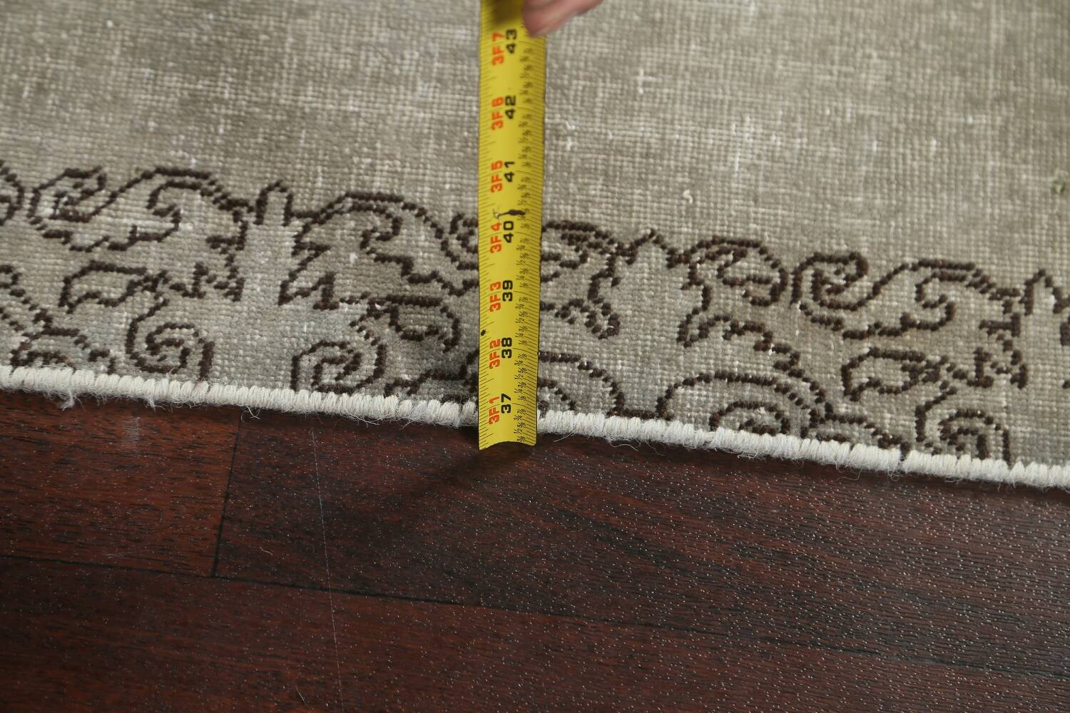Distressed Over-Dyed Tabriz Persian Runner Rug 2x9 image 17