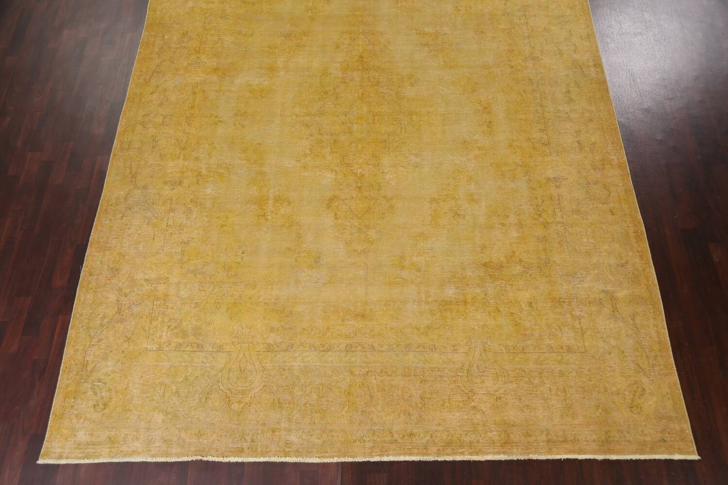 Antique Distressed Over-Dye Tabriz Persian Area Rug 10x13 image 6