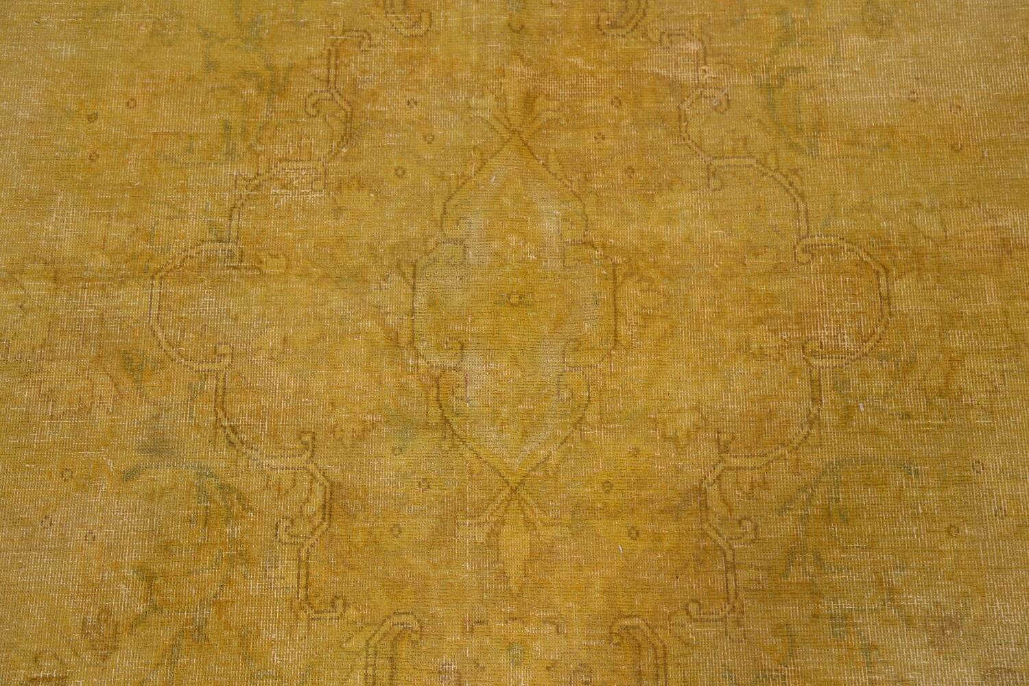 Antique Distressed Over-Dye Tabriz Persian Area Rug 10x13 image 10