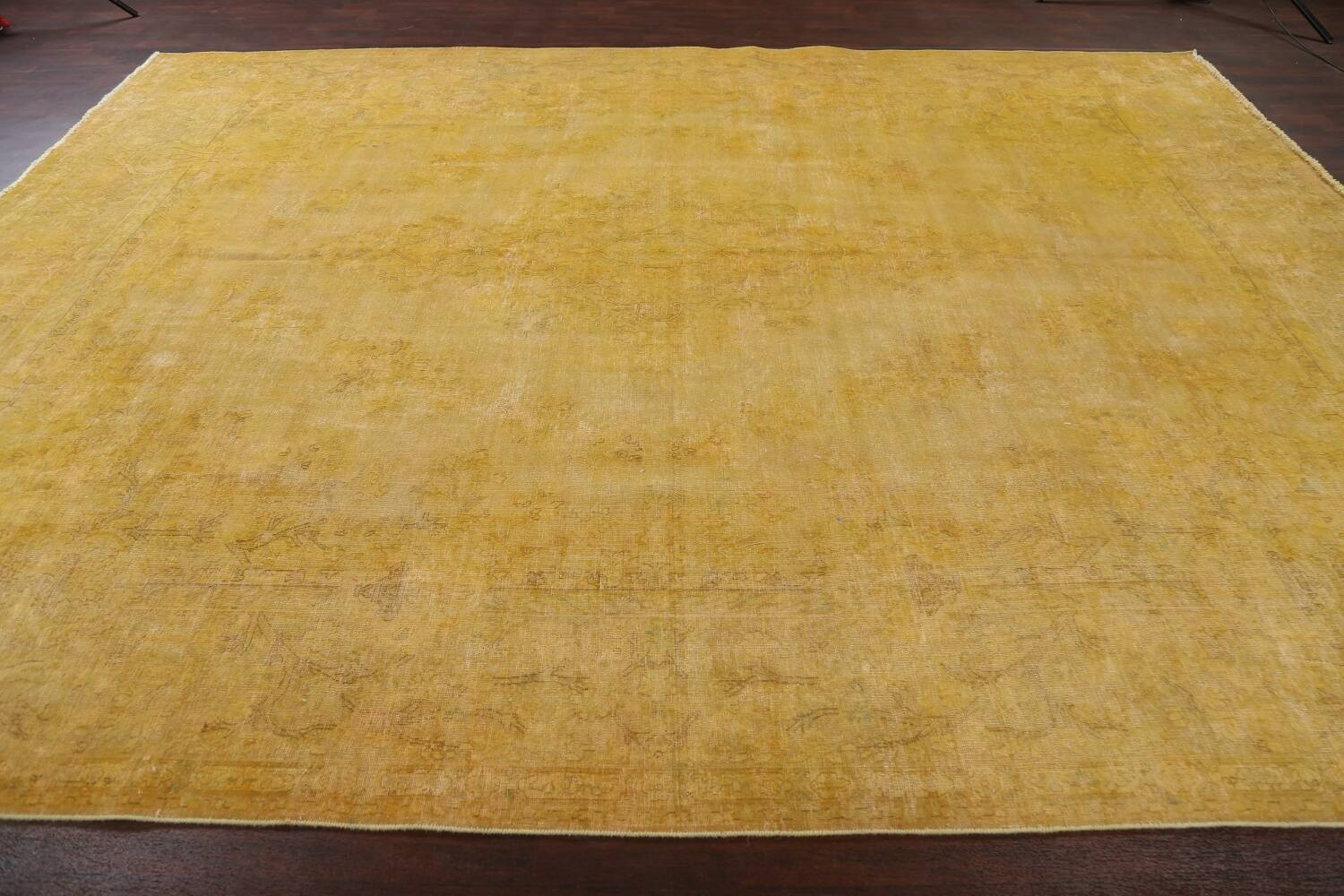 Antique Distressed Over-Dye Tabriz Persian Area Rug 10x13 image 14