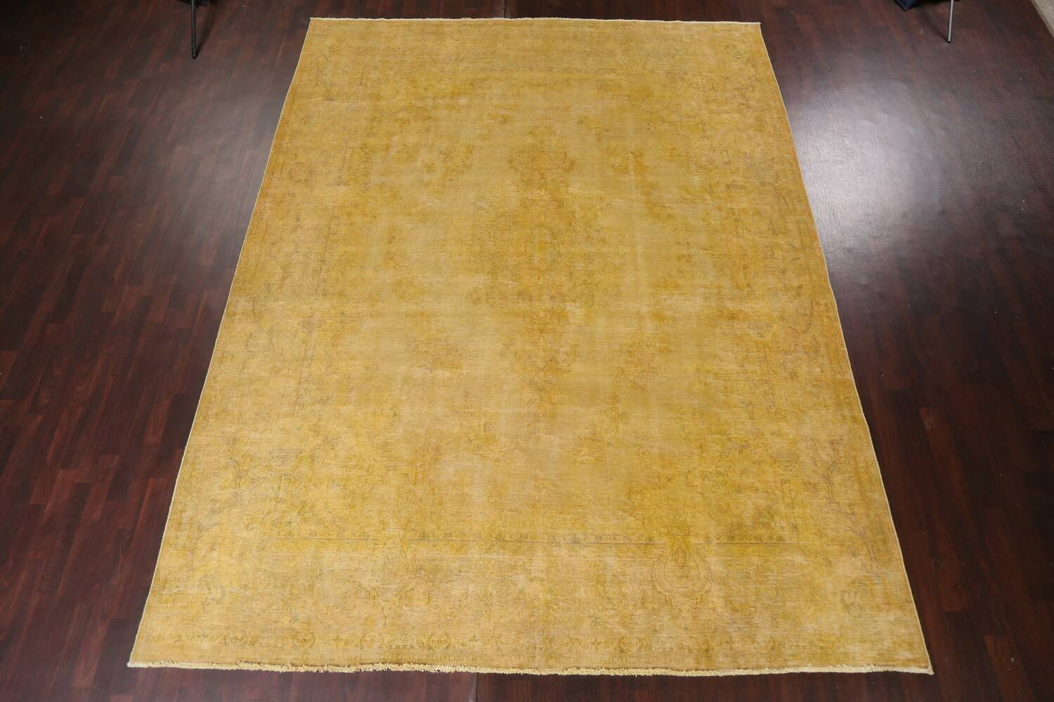 Antique Distressed Over-Dye Tabriz Persian Area Rug 10x13 image 15