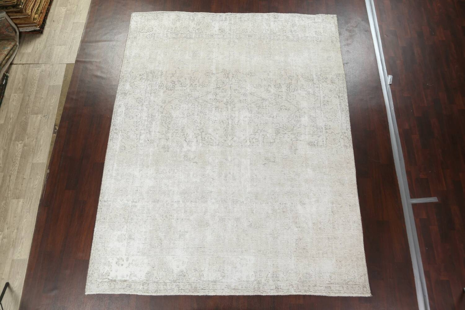 Muted Distressed Tabriz Persian Area Rug 9x11 image 3