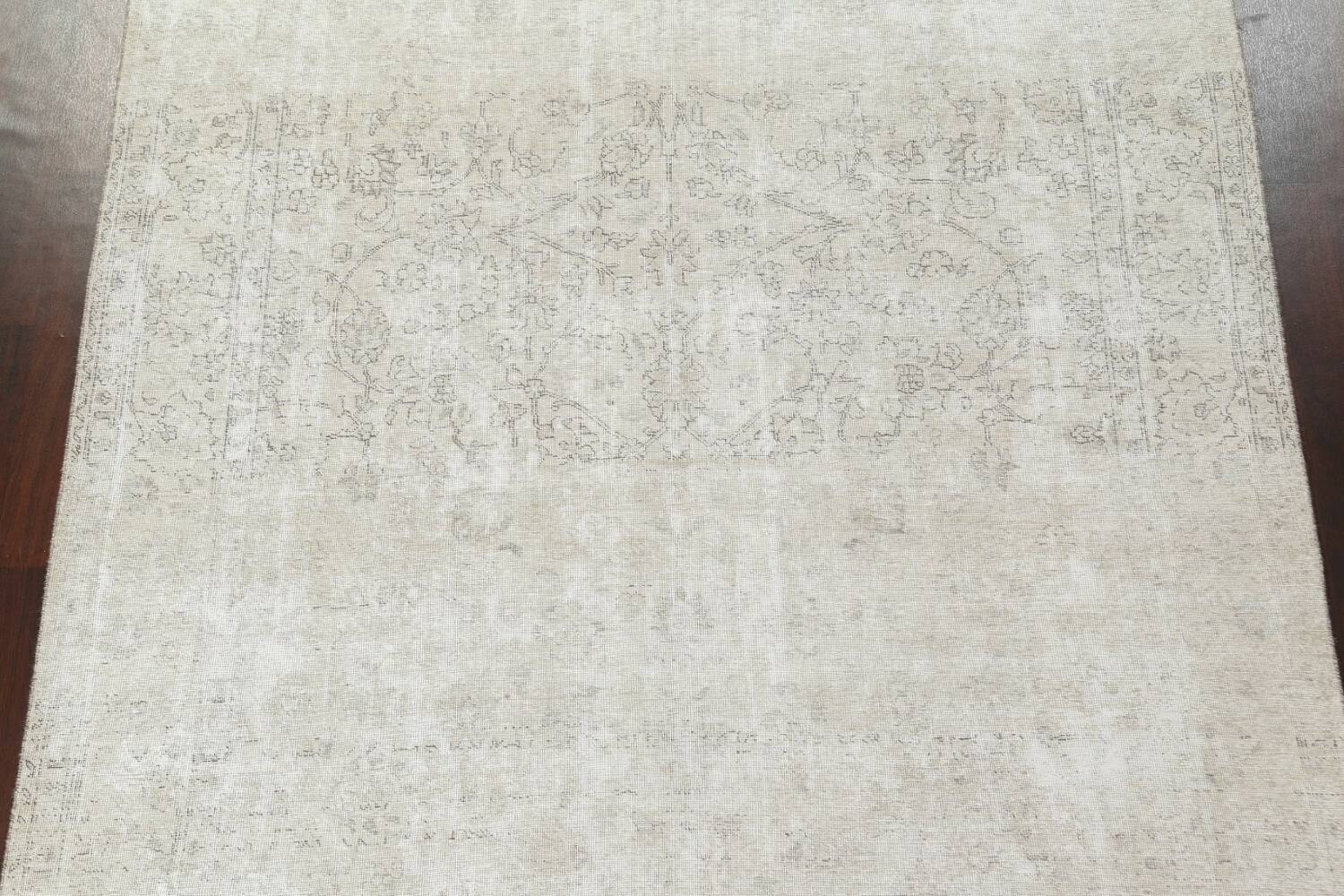 Muted Distressed Tabriz Persian Area Rug 9x11 image 4
