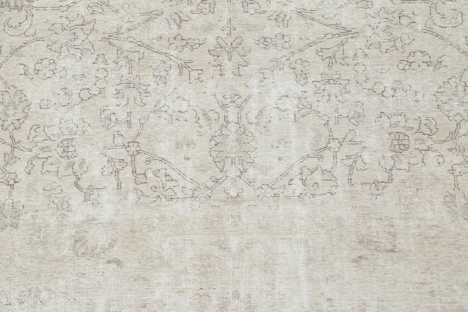 Muted Distressed Tabriz Persian Area Rug 9x11 image 5