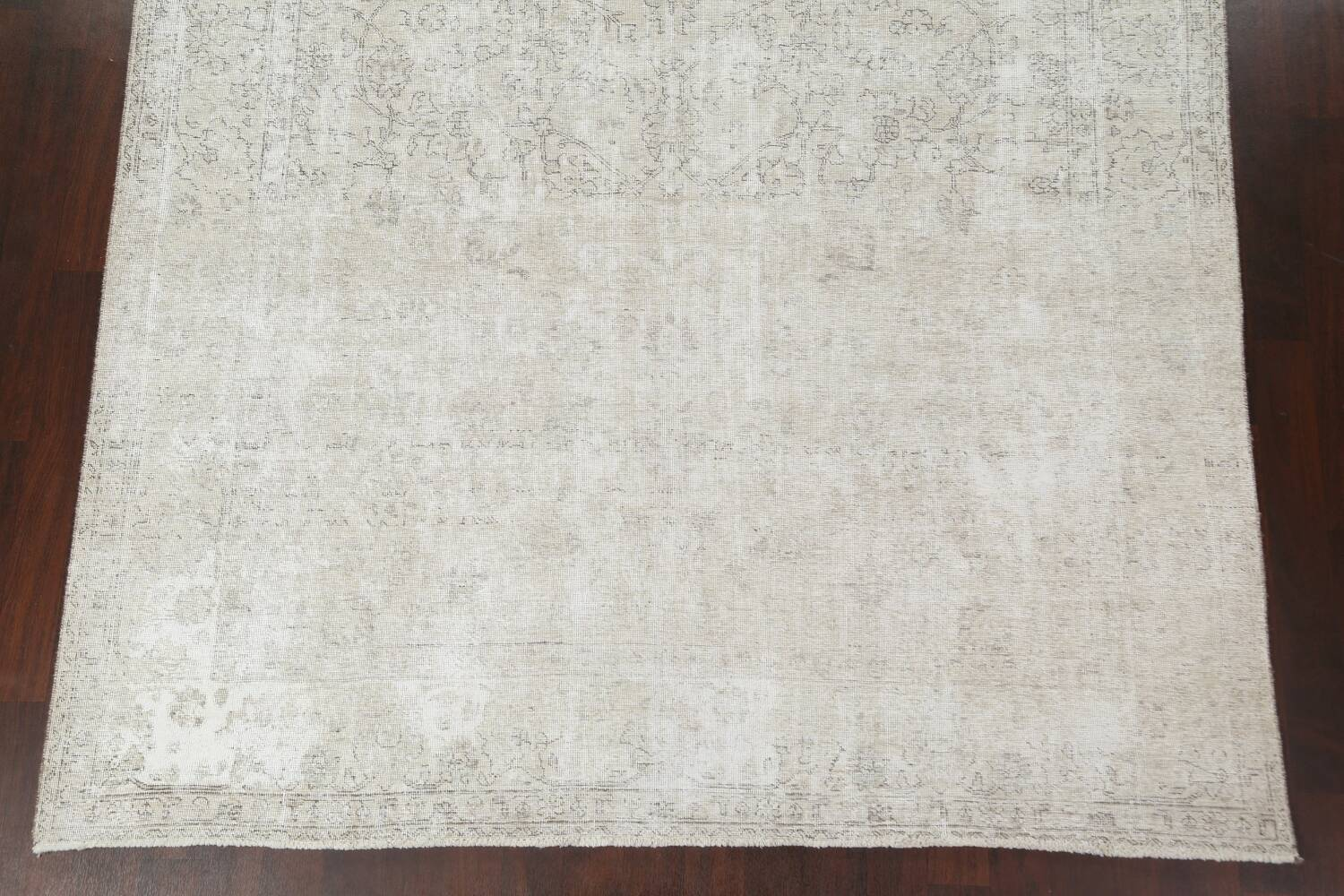 Muted Distressed Tabriz Persian Area Rug 9x11 image 6