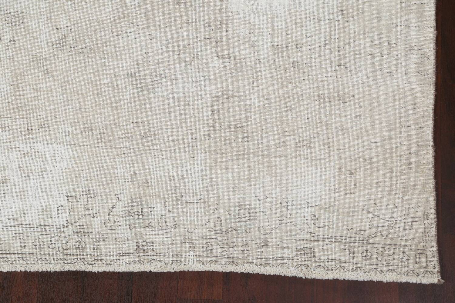 Muted Distressed Tabriz Persian Area Rug 9x11 image 7