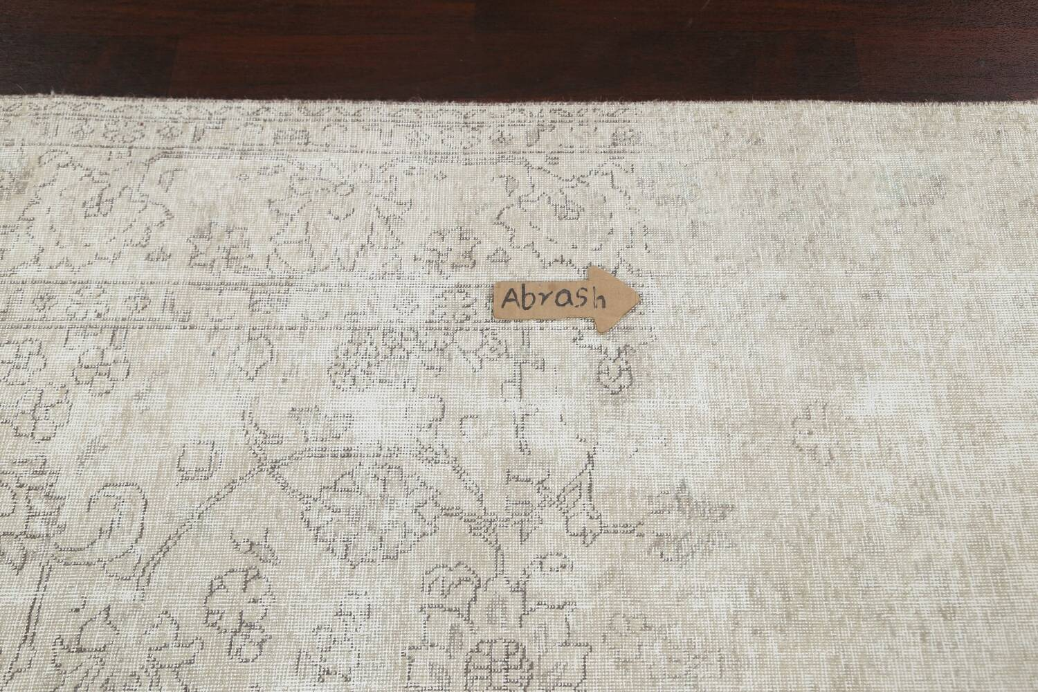 Muted Distressed Tabriz Persian Area Rug 9x11 image 11