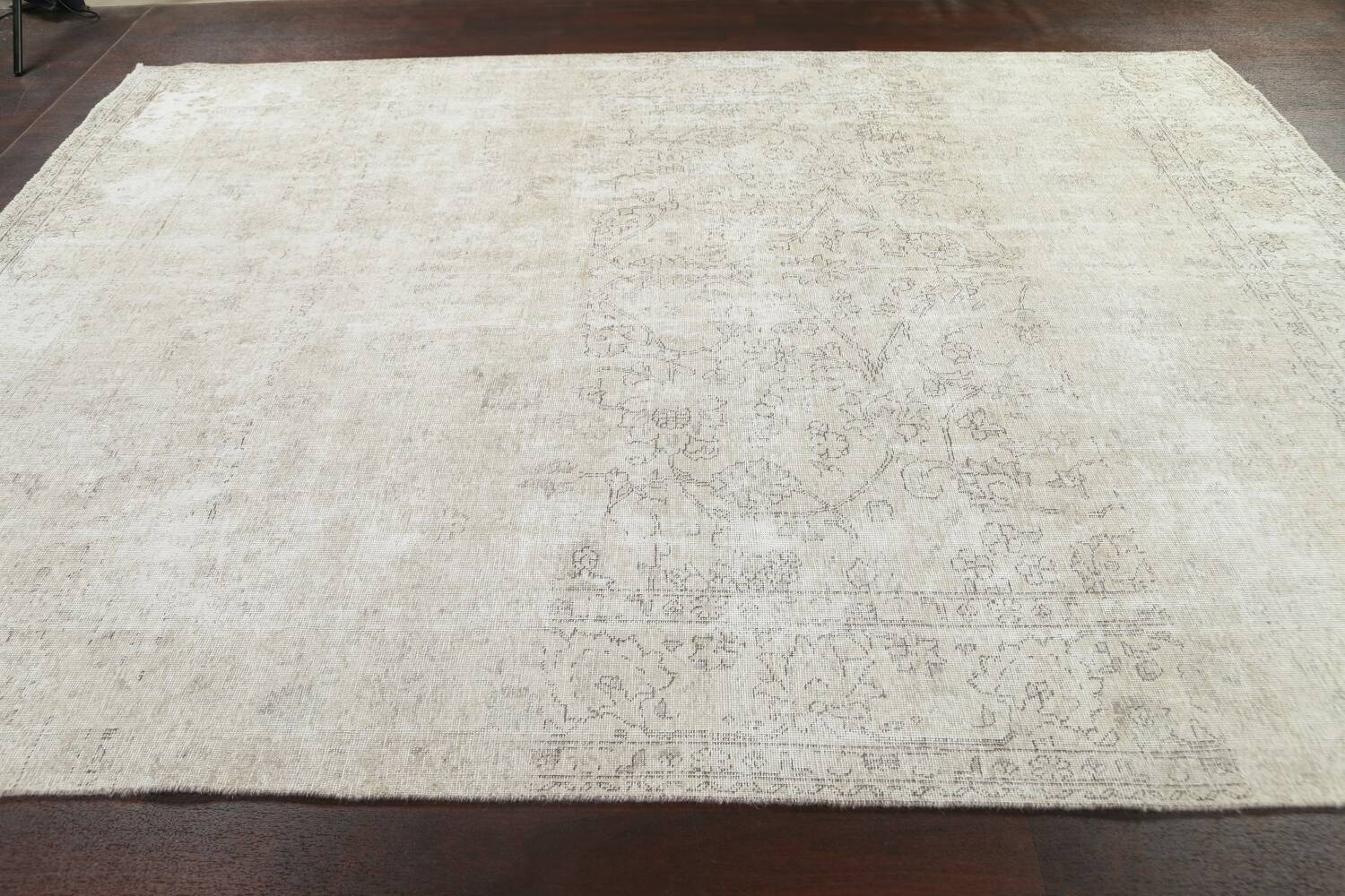 Muted Distressed Tabriz Persian Area Rug 9x11 image 15