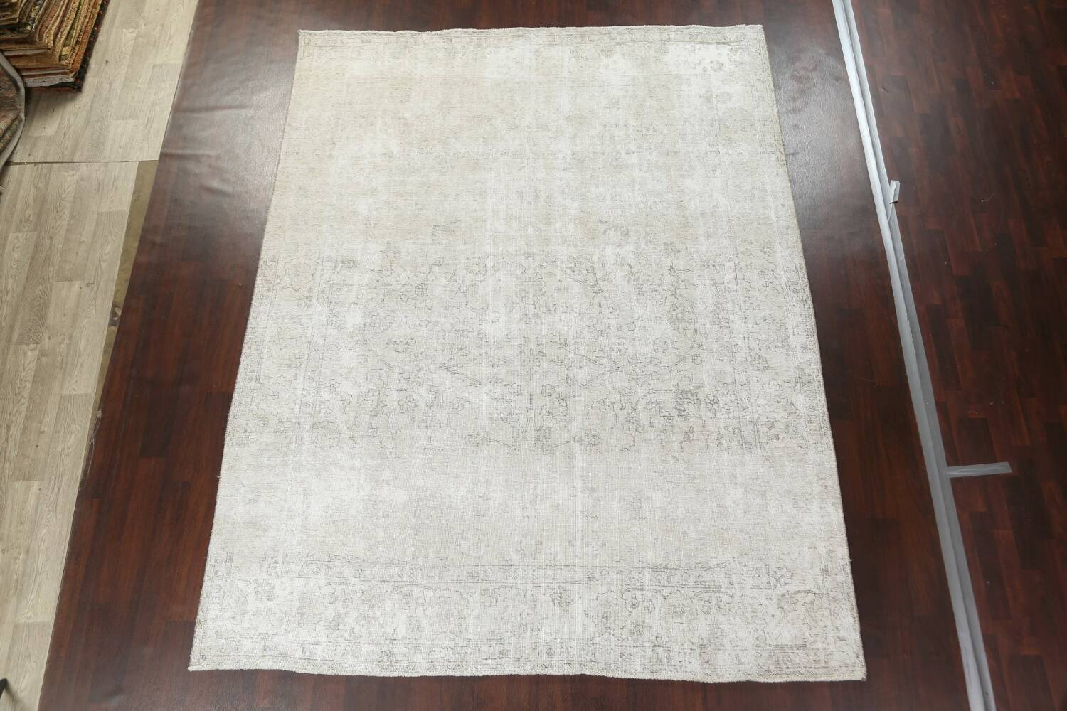 Muted Distressed Tabriz Persian Area Rug 9x11 image 16