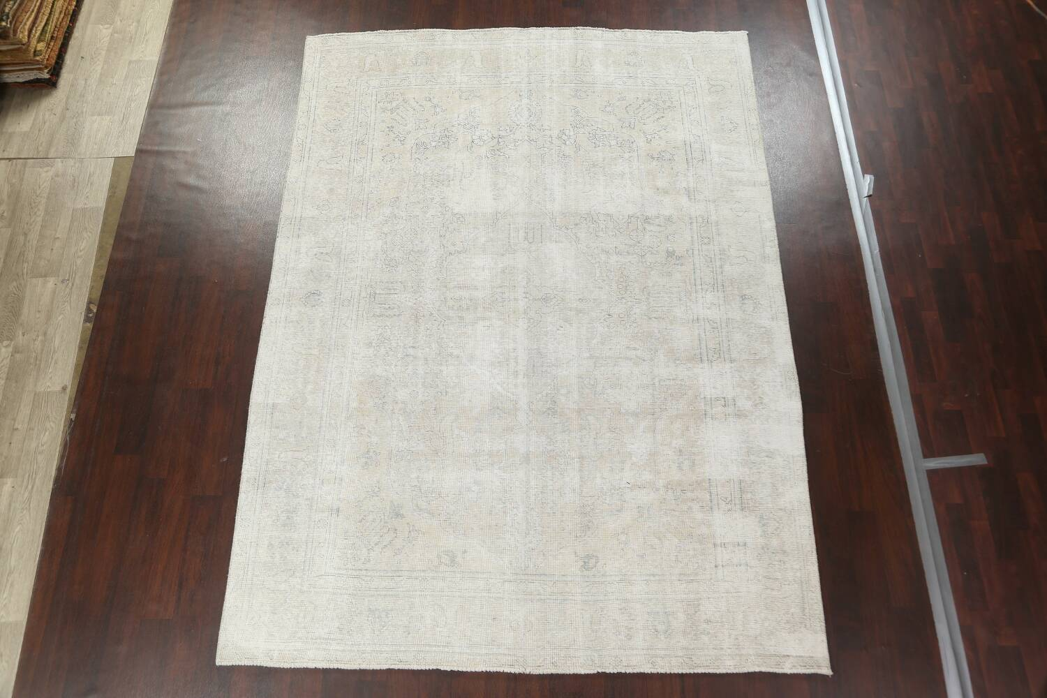 Antique Muted Distressed Tabriz Persian Area Rug 8x11 image 3