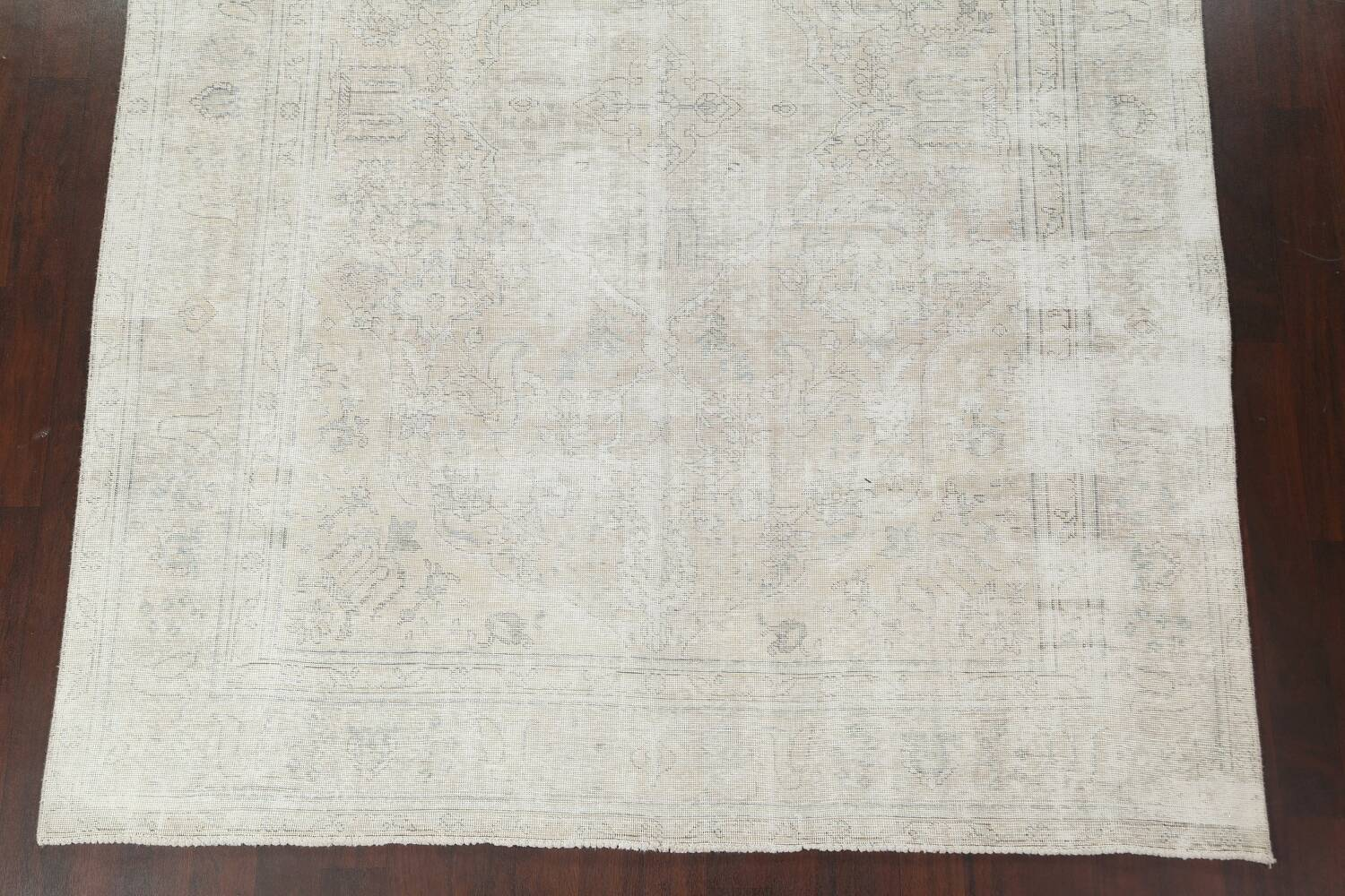 Antique Muted Distressed Tabriz Persian Area Rug 8x11 image 6