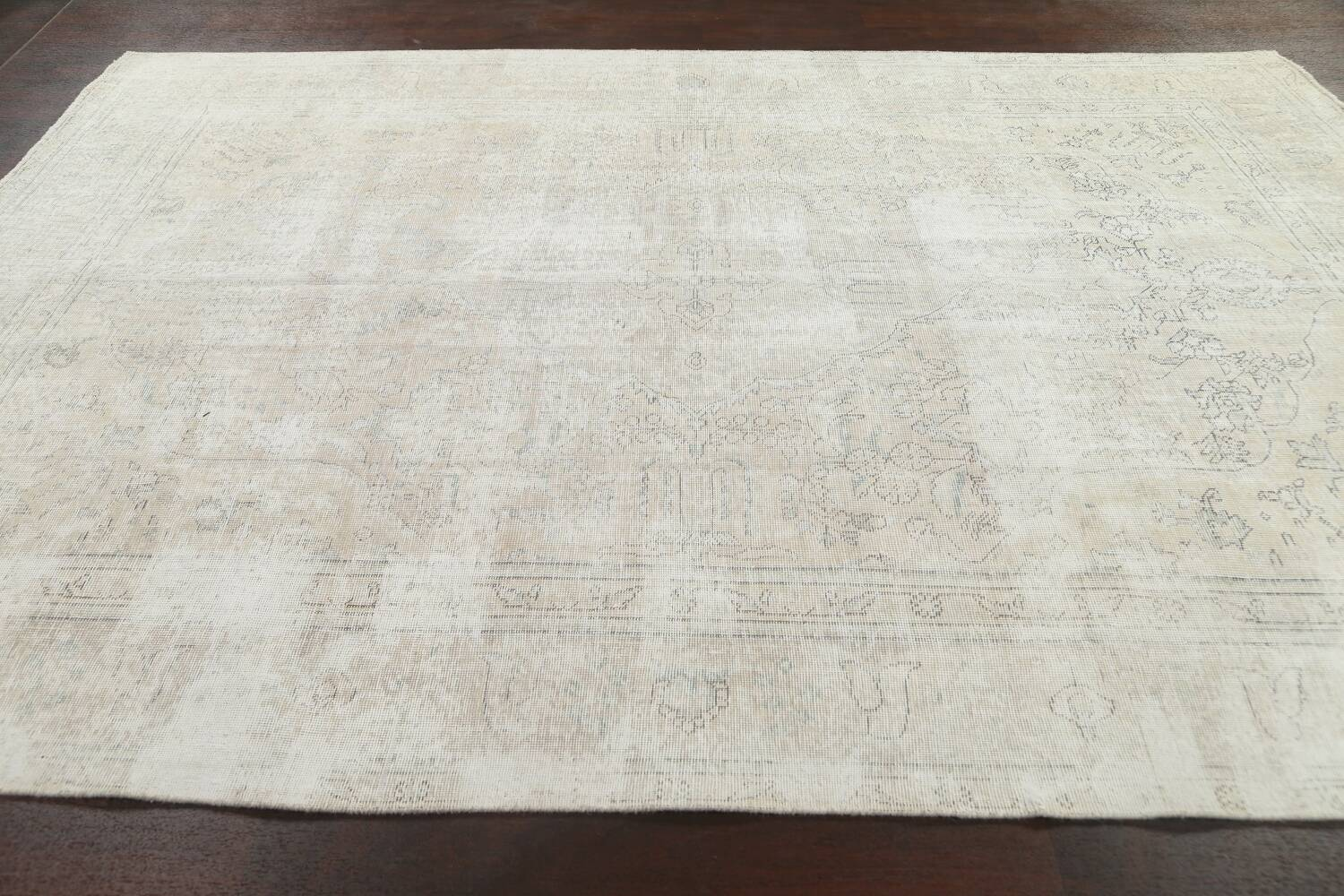 Antique Muted Distressed Tabriz Persian Area Rug 8x11 image 13