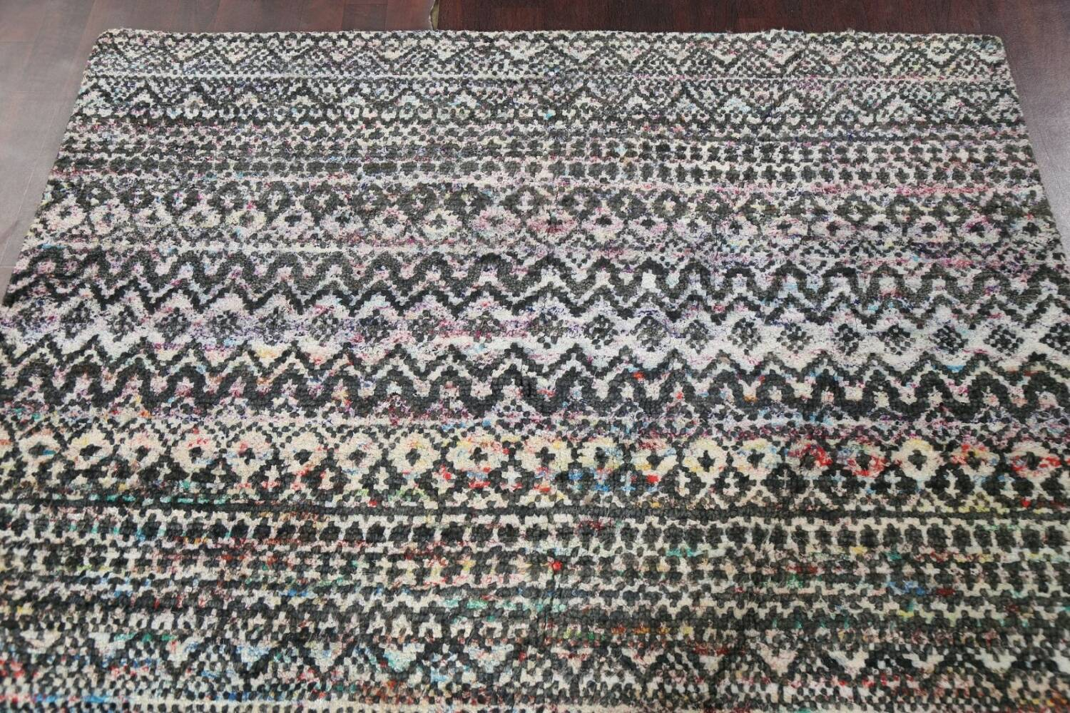 Chevron Style Abstract Oriental Area Rug 6x9 image 12