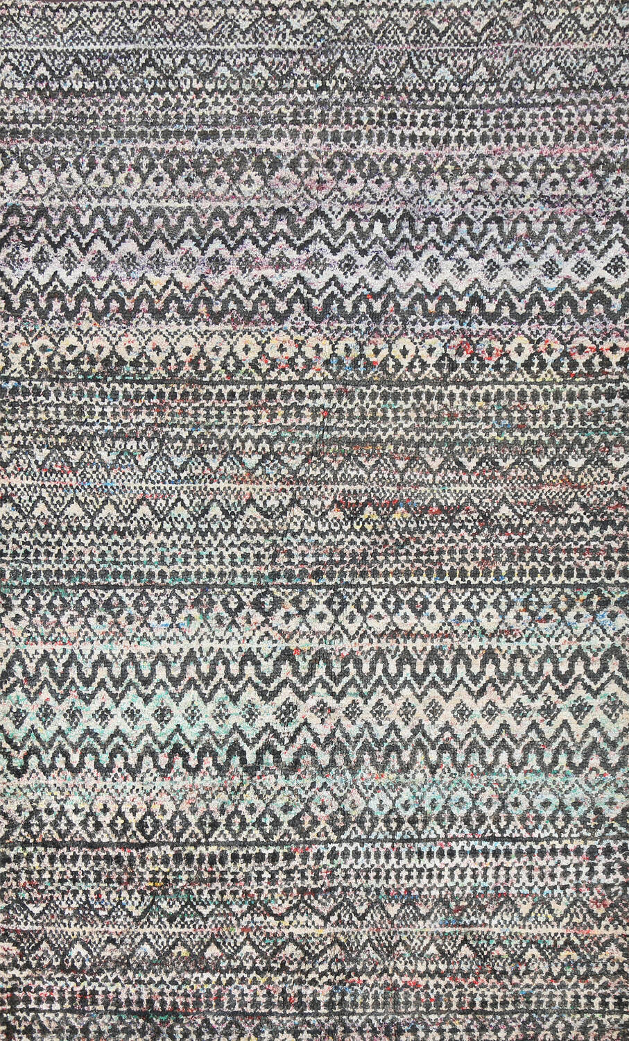 Chevron Style Abstract Oriental Area Rug 6x9 image 1