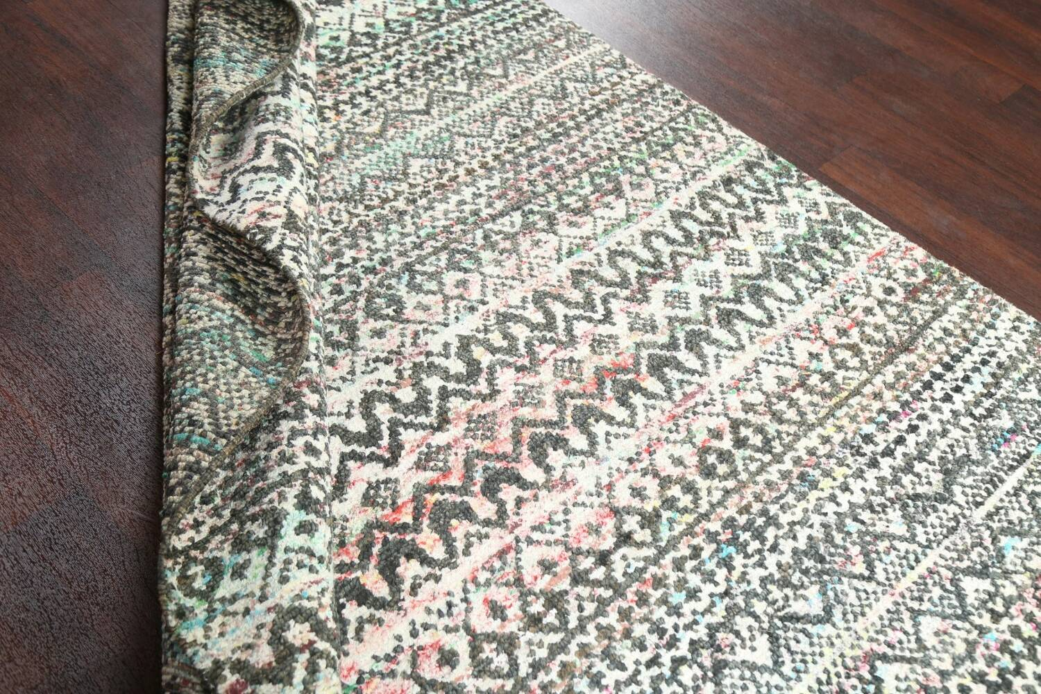 Chevron Style Abstract Oriental Area Rug 6x9 image 17
