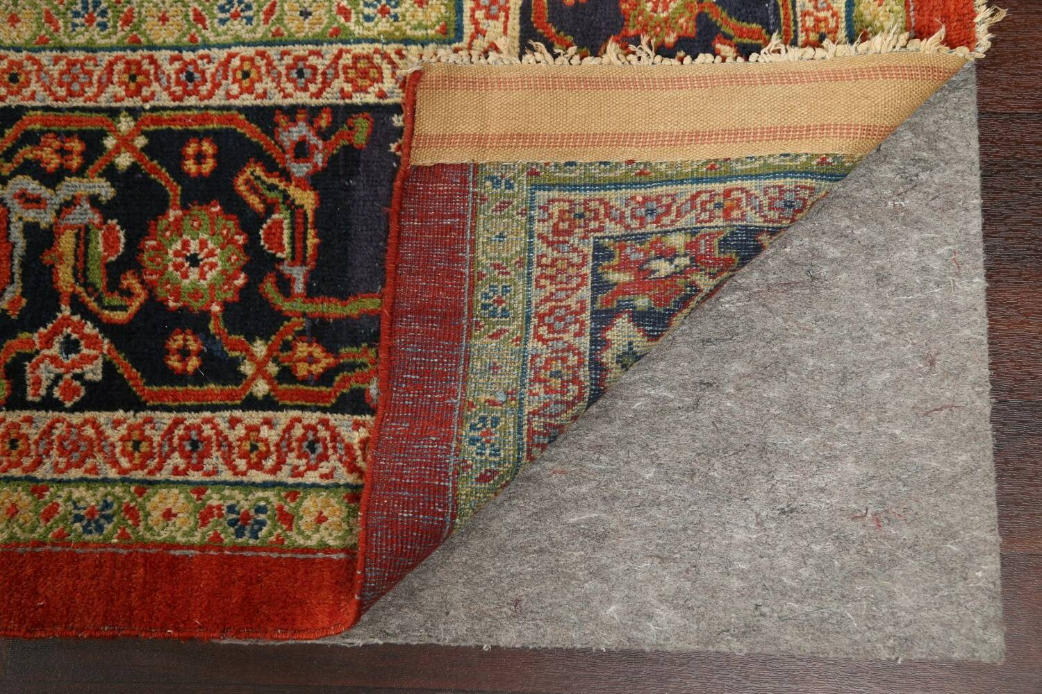 Pre-1900 Antique Vegetable Dye Sultanabad Persian Rug 15x22 image 8