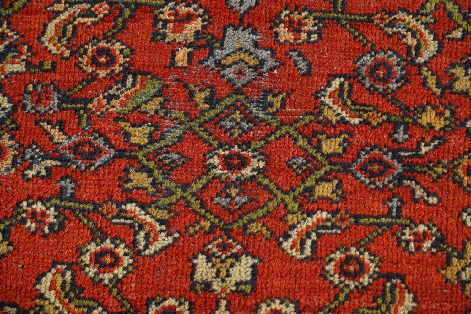 Pre-1900 Antique Vegetable Dye Sultanabad Persian Rug 15x22 image 9