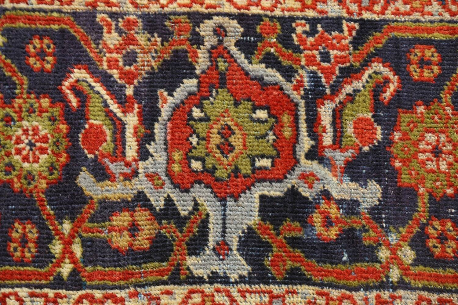 Pre-1900 Antique Vegetable Dye Sultanabad Persian Rug 15x22 image 10