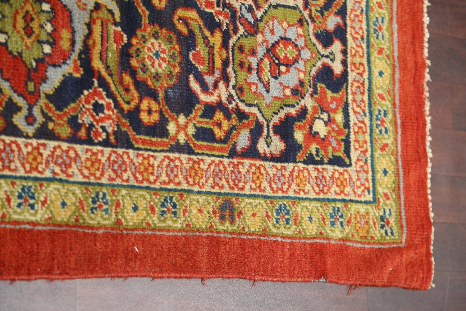 Pre-1900 Antique Vegetable Dye Sultanabad Persian Rug 15x22 image 12