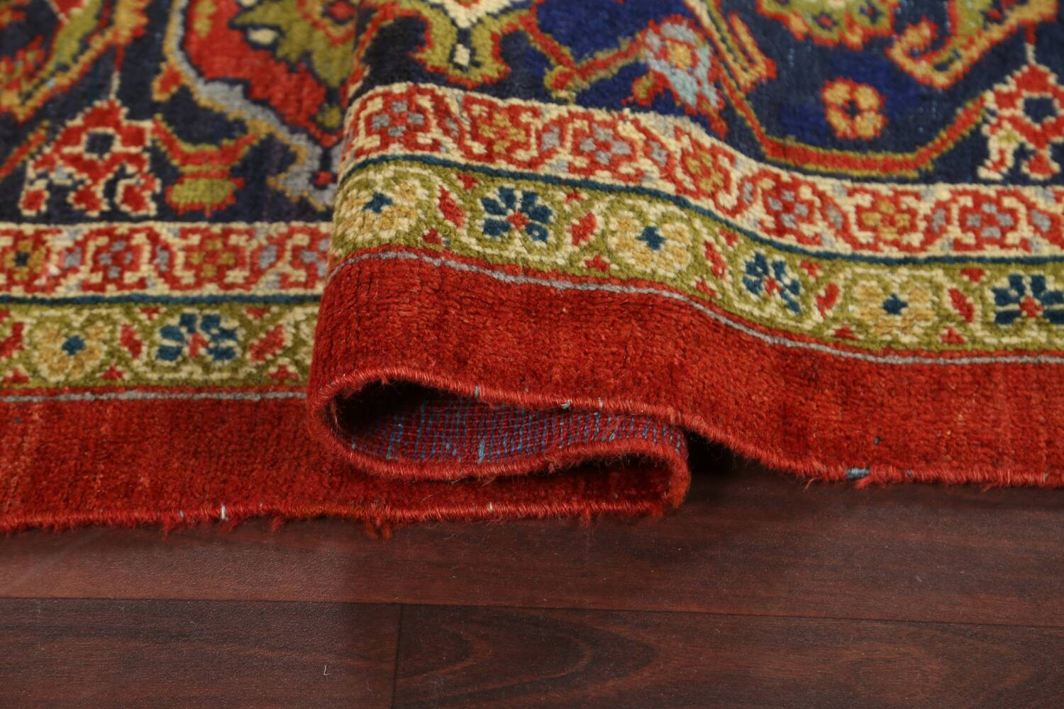 Pre-1900 Antique Vegetable Dye Sultanabad Persian Rug 15x22 image 13