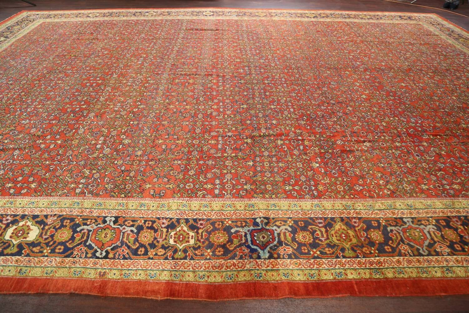 Pre-1900 Antique Vegetable Dye Sultanabad Persian Rug 15x22 image 14
