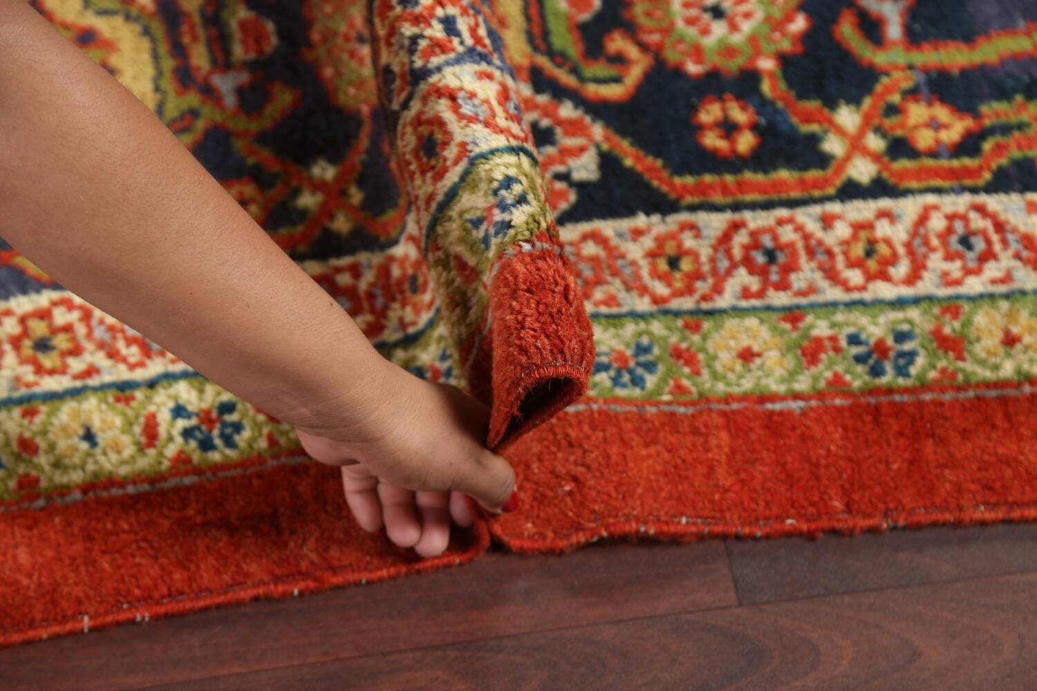 Pre-1900 Antique Vegetable Dye Sultanabad Persian Rug 15x22 image 18