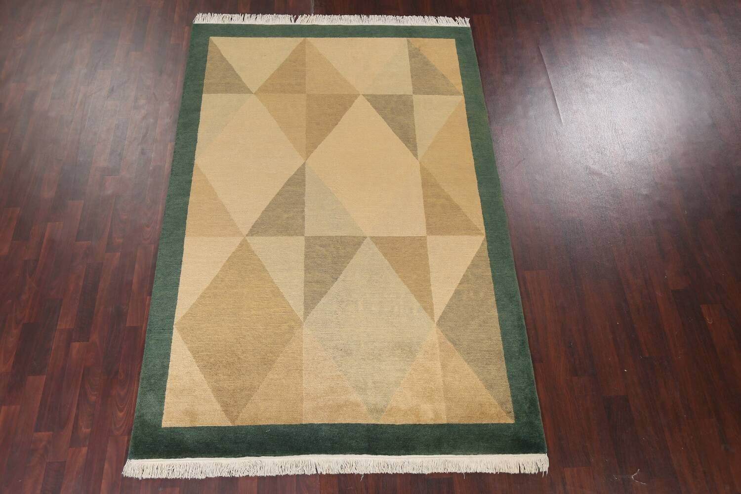 Vegetable Dye Nepalese Contemporary Area Rug 6x9 image 3