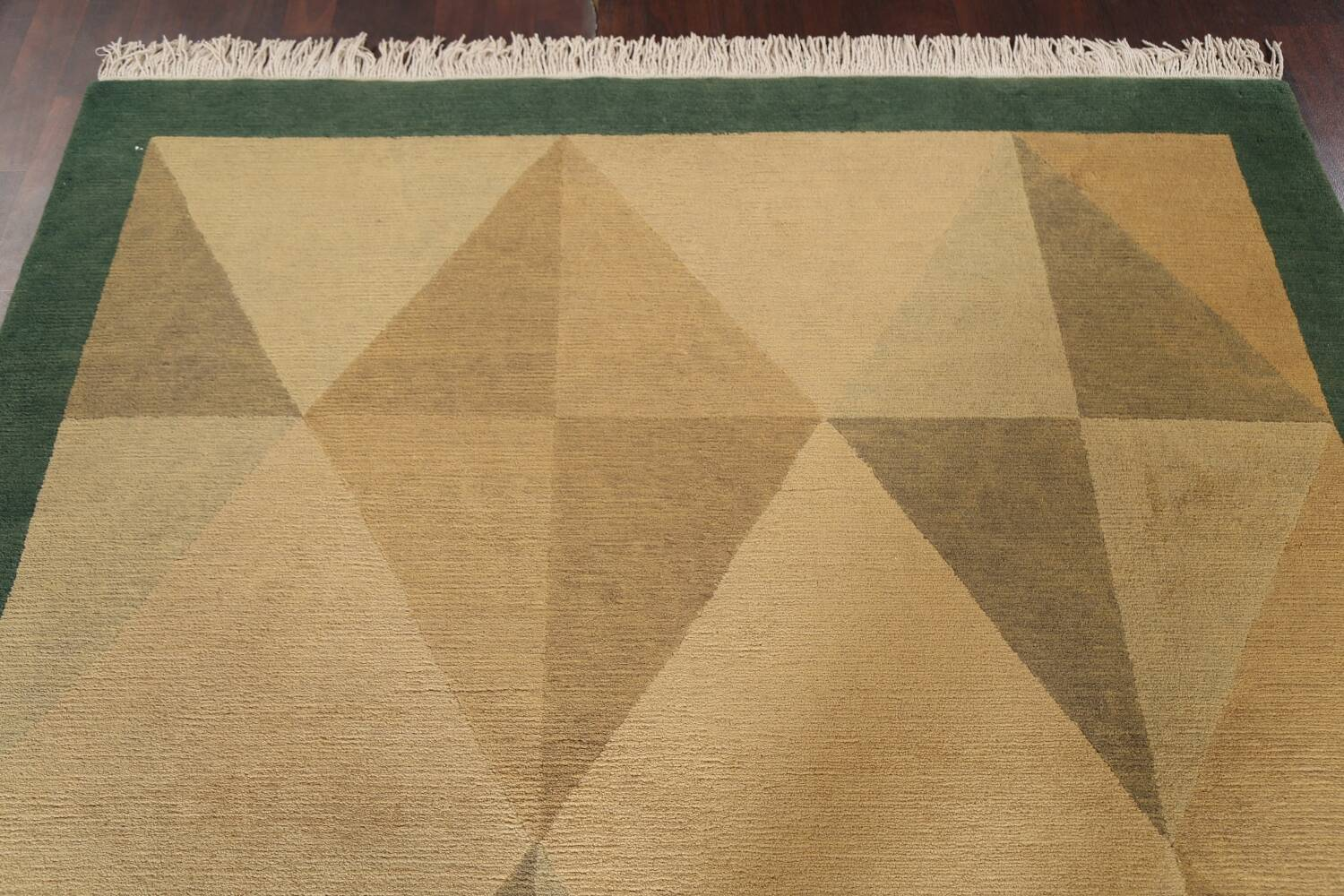 Vegetable Dye Nepalese Contemporary Area Rug 6x9 image 13