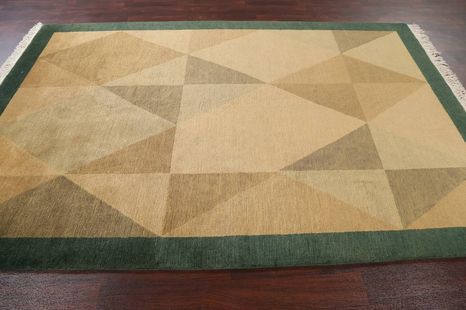 Vegetable Dye Nepalese Contemporary Area Rug 6x9 image 15