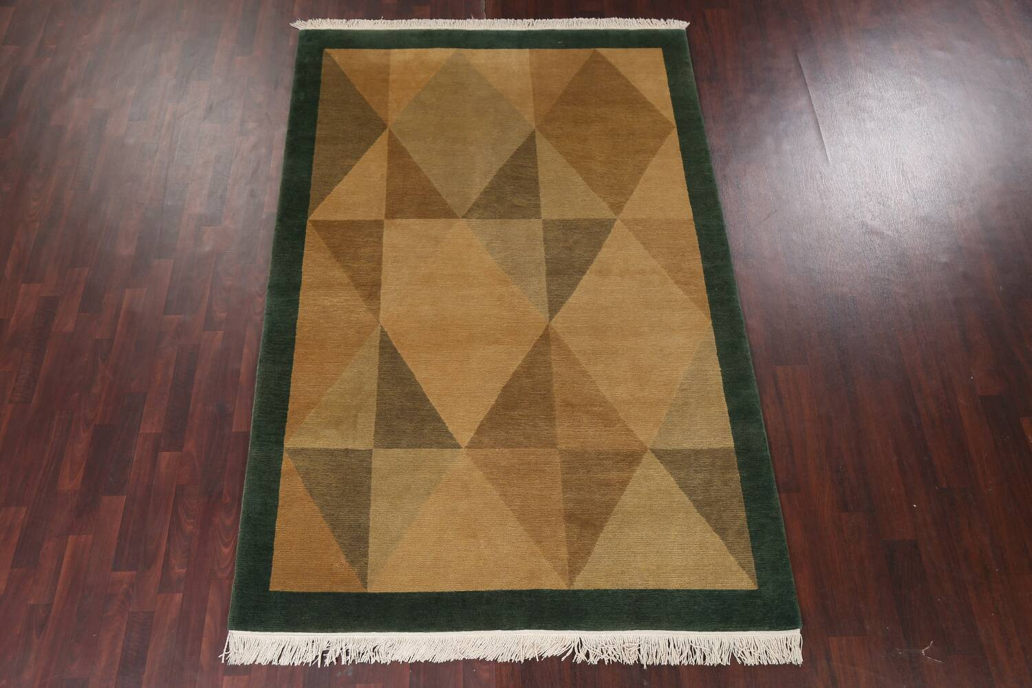 Vegetable Dye Nepalese Contemporary Area Rug 6x9 image 16