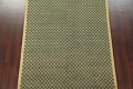 Green/ Gold Checkered Nepalese Wool Area Rug 6x9 image 4
