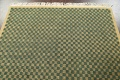 Green/ Gold Checkered Nepalese Wool Area Rug 6x9 image 10