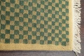 Green/ Gold Checkered Nepalese Wool Area Rug 6x9 image 11