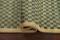 Green/ Gold Checkered Nepalese Wool Area Rug 6x9 image 12