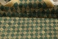 Green/ Gold Checkered Nepalese Wool Area Rug 6x9 image 15