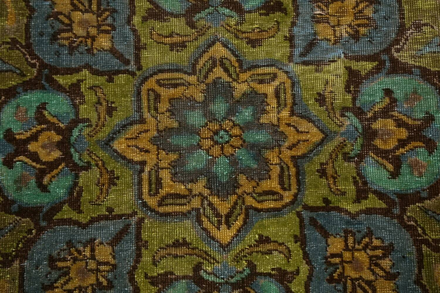 Distressed Over-Dye Kashan Persian Area Rug 10x13 image 10