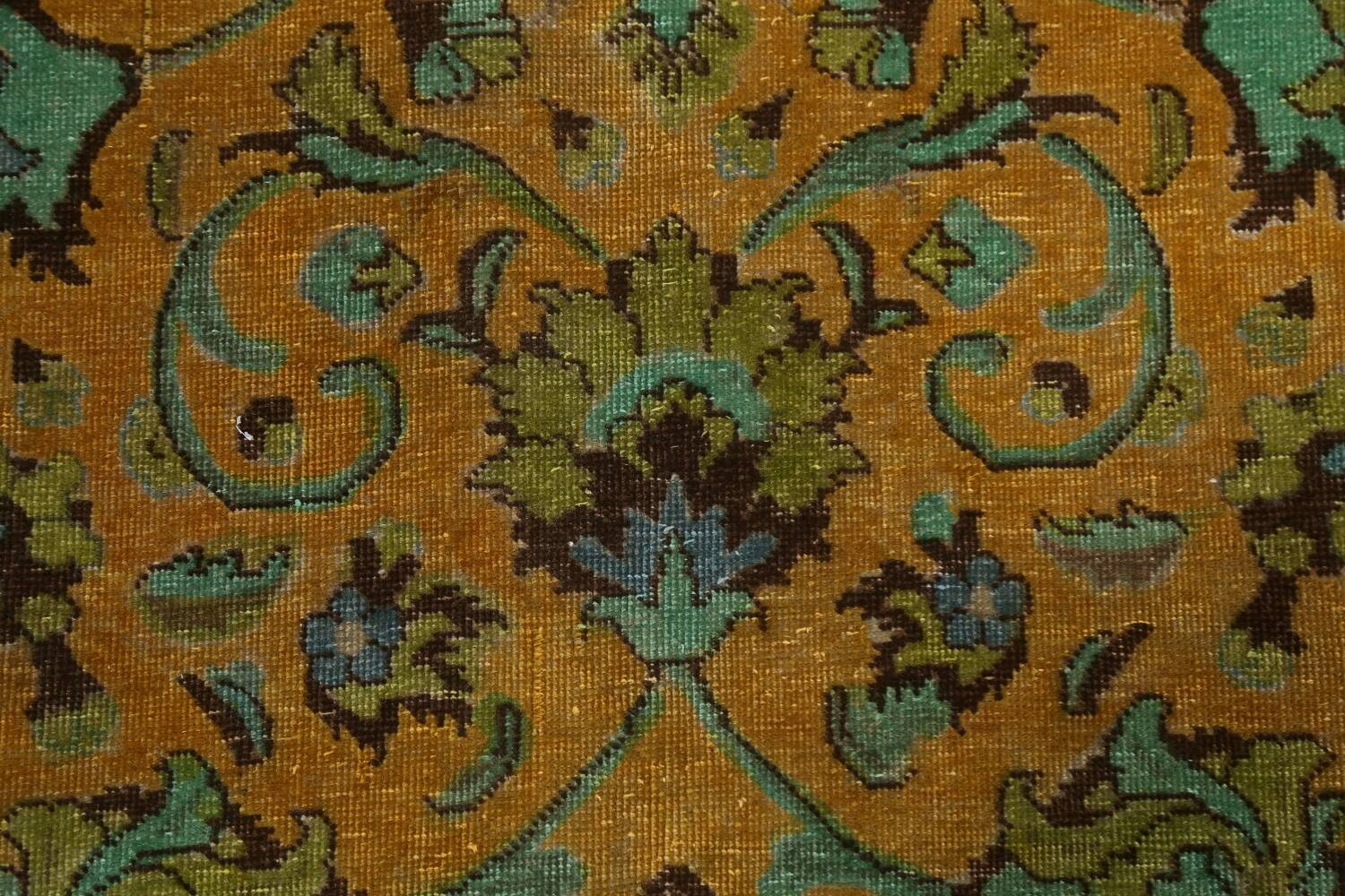 Distressed Over-Dye Kashan Persian Area Rug 10x13 image 9