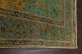 Distressed Over-Dye Kashan Persian Area Rug 10x13 image 14