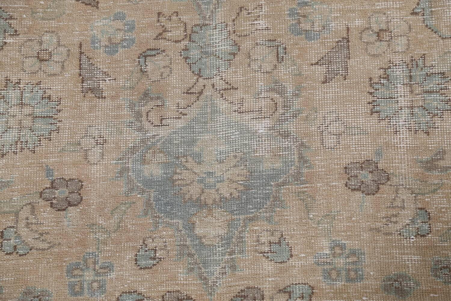 Muted Distressed Mashad Persian Area Rug 7x10 image 9