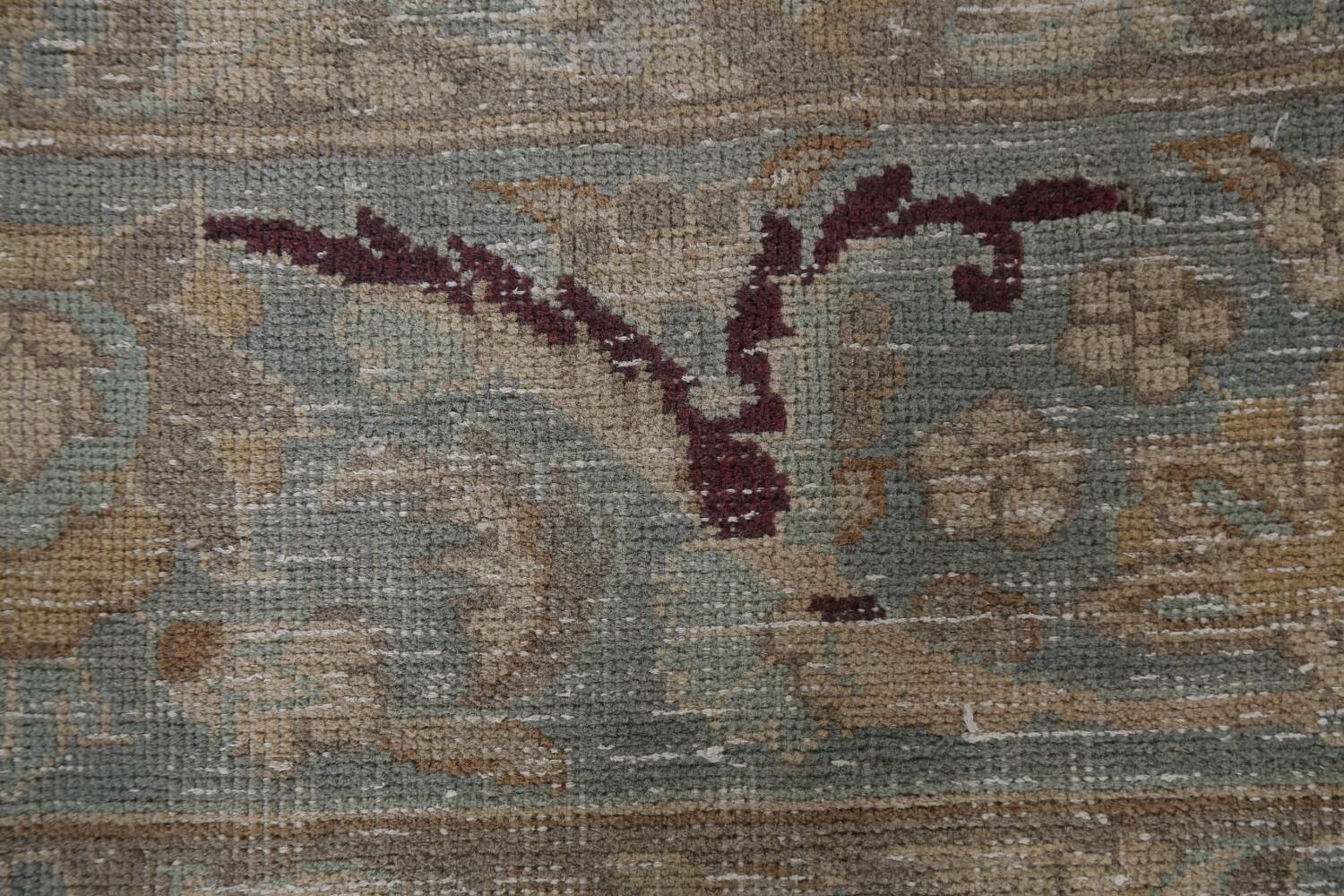 Muted Distressed Mashad Persian Area Rug 7x10 image 11