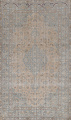 Muted Distressed Mashad Persian Area Rug 7x10 image 1