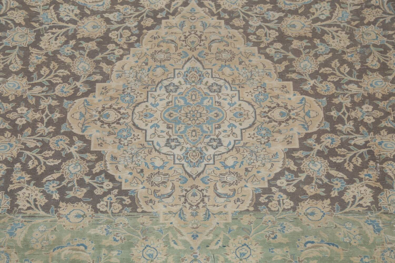Traditional Distressed Kashan Persian Area Rug 10x14 image 5