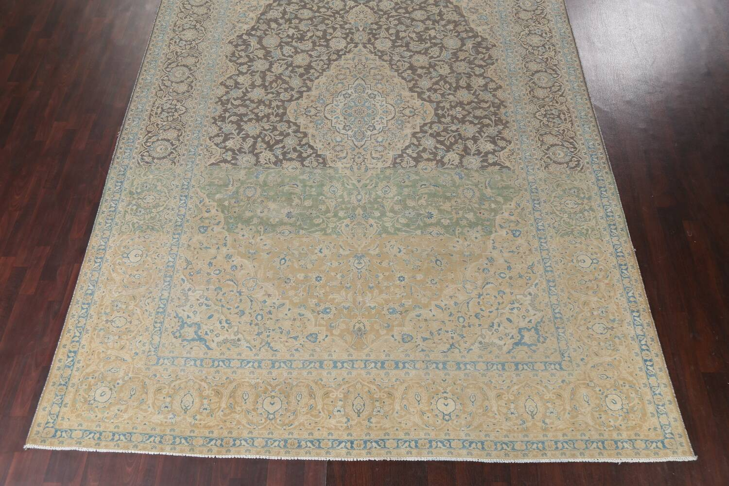 Traditional Distressed Kashan Persian Area Rug 10x14 image 6