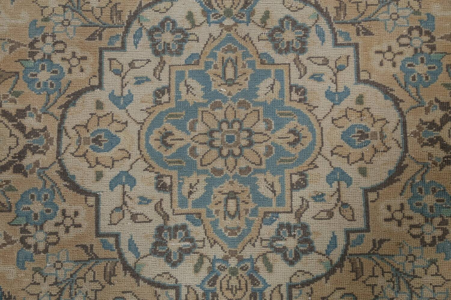 Traditional Distressed Kashan Persian Area Rug 10x14 image 11