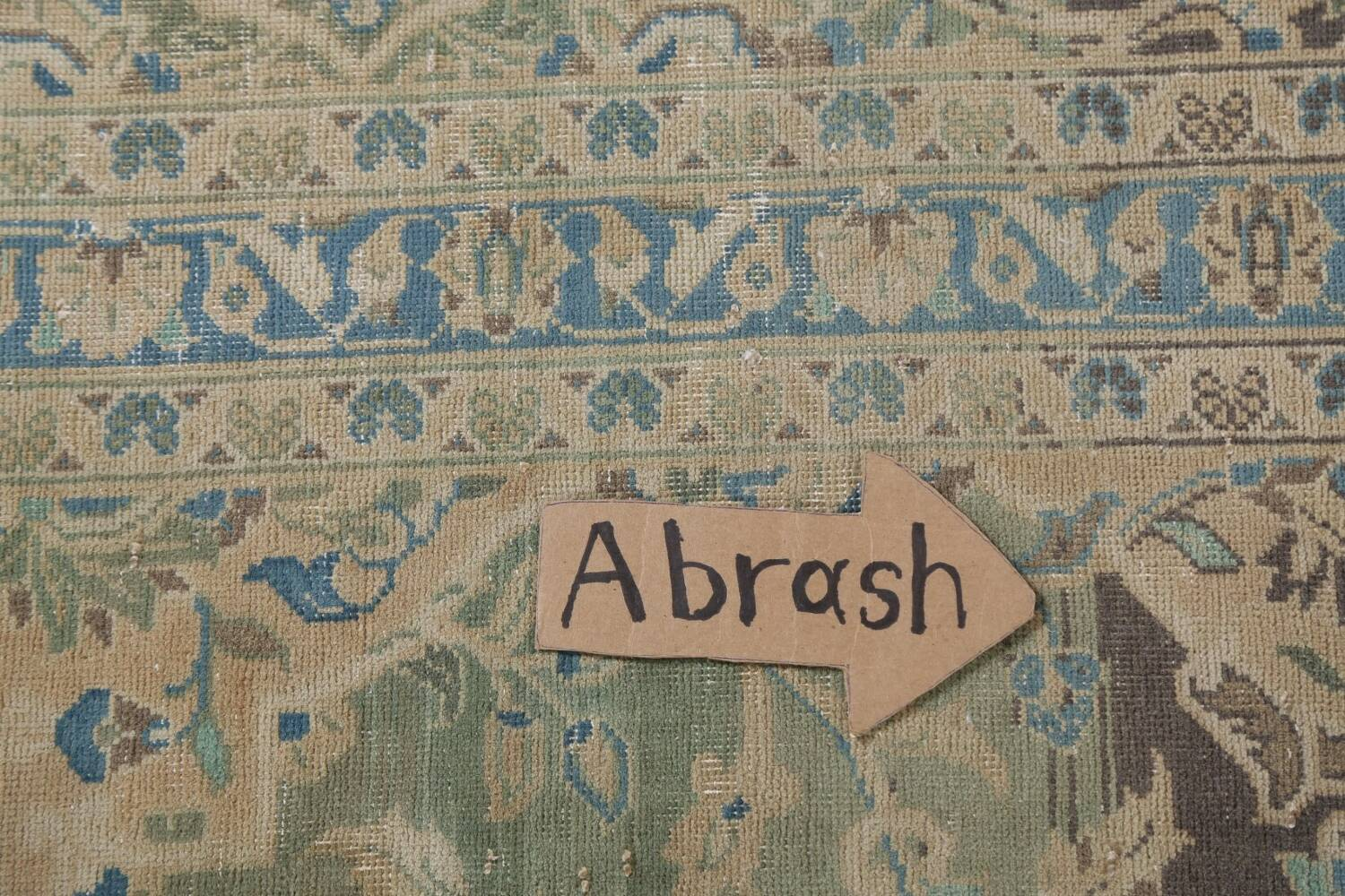 Traditional Distressed Kashan Persian Area Rug 10x14 image 12