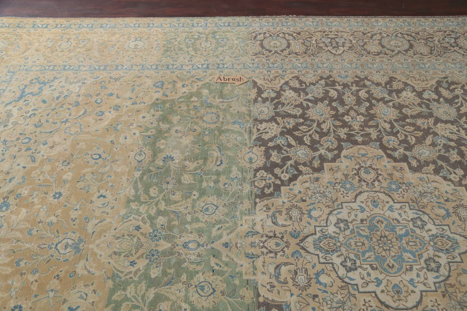 Traditional Distressed Kashan Persian Area Rug 10x14 image 13