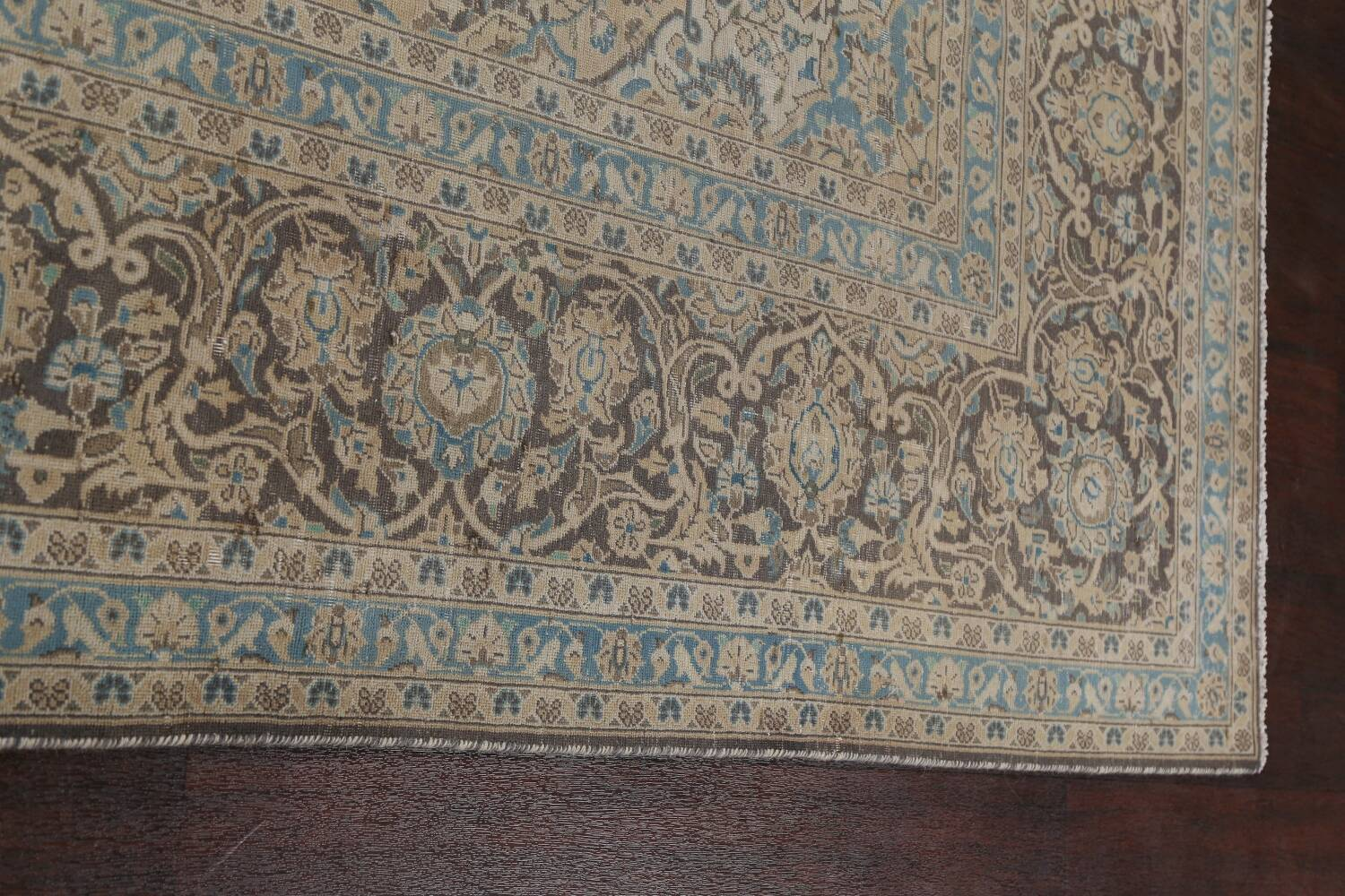 Traditional Distressed Kashan Persian Area Rug 10x14 image 16